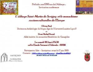 invitaion conférence 20 juin Arbresle
