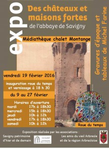 Expo Des châteaux et maisons fortes de l'Abbaye - M&diathèque savigny