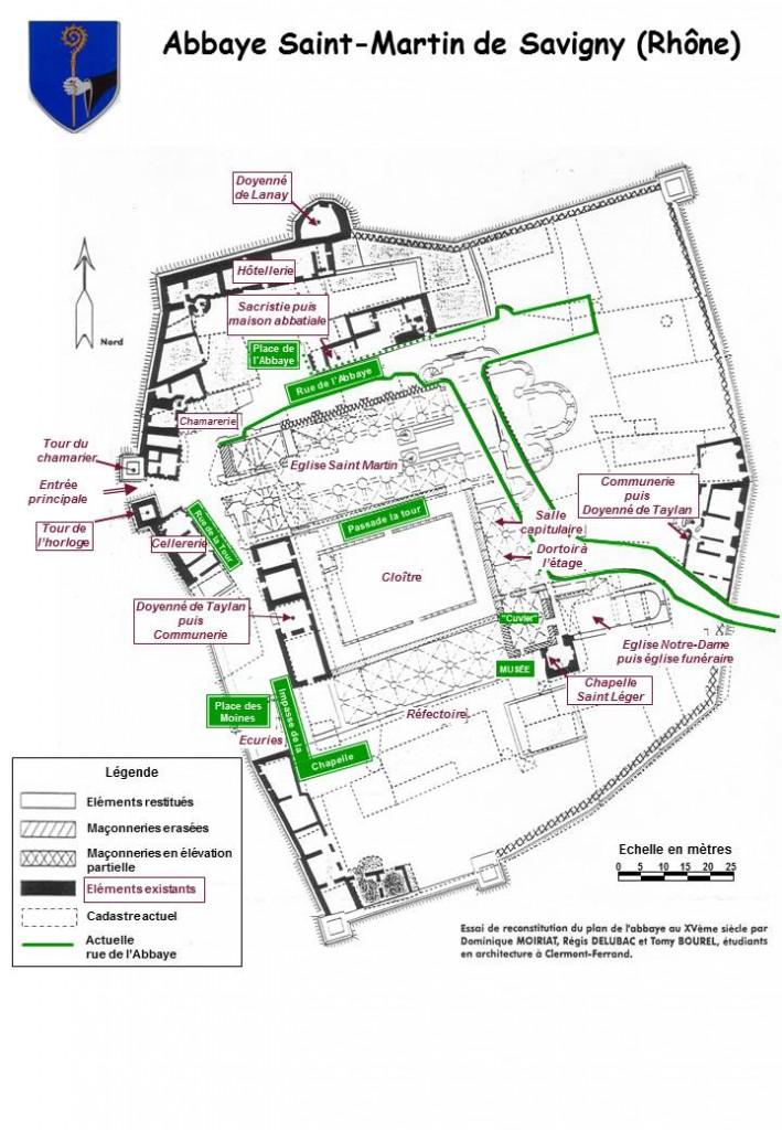 Plan abbaye avec rues
