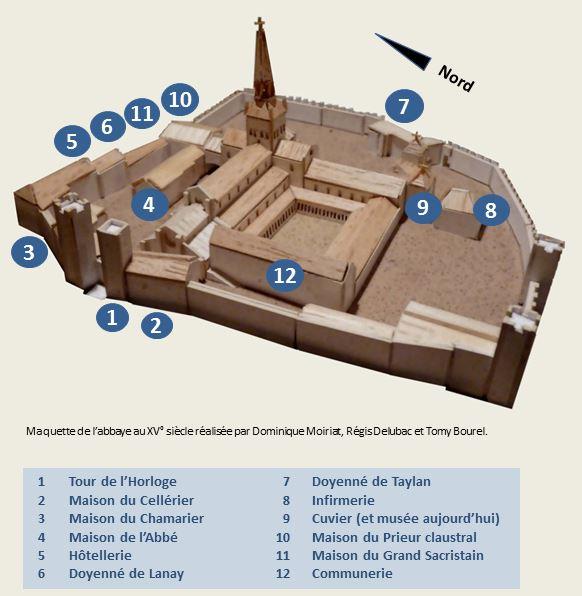 plan abbaye bat restant