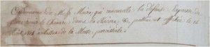 ordonance maire 1818