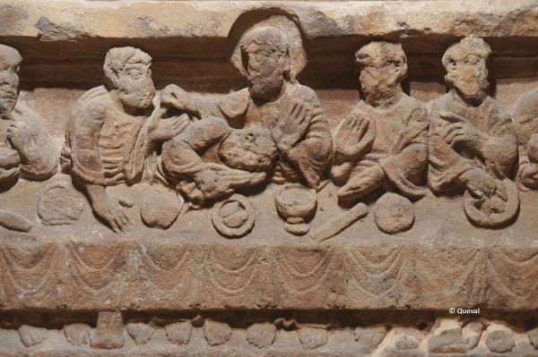 linteau cène XII détail